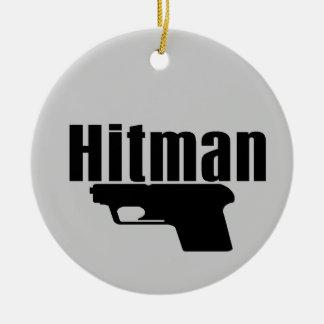 hitman christmas ornament