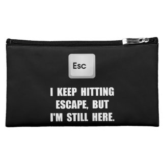 Hitting Escape Key Cosmetic Bags