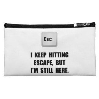 Hitting Escape Key Cosmetics Bags