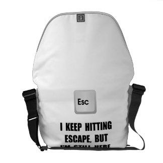 Hitting Escape Key Courier Bag