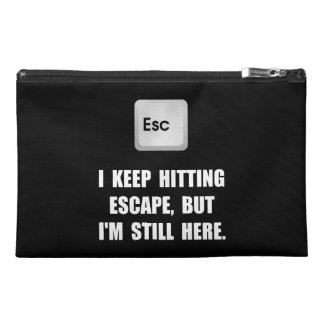 Hitting Escape Key Travel Accessories Bags