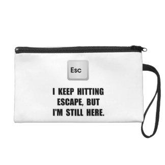 Hitting Escape Key Wristlet Clutches