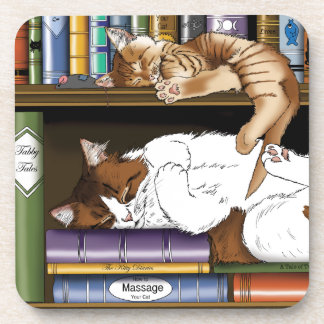 Hitting the Books Drink Coasters