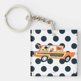Hitting the Open Road 4 Double-Sided Square Acrylic Key Ring