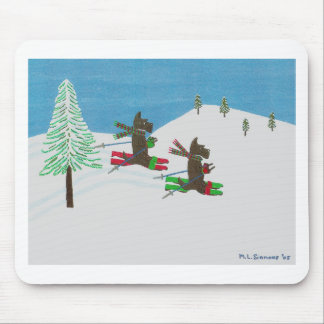 HITTING THE SLOPES MOUSE PAD