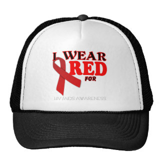 HIV AIDS AWARENESS MONTH TEMPLATE MESH HAT