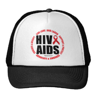 HIV/AIDS Live Love Laugh Cap