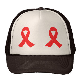 HIV AIDS Ribbon Cancer Awareness Cap
