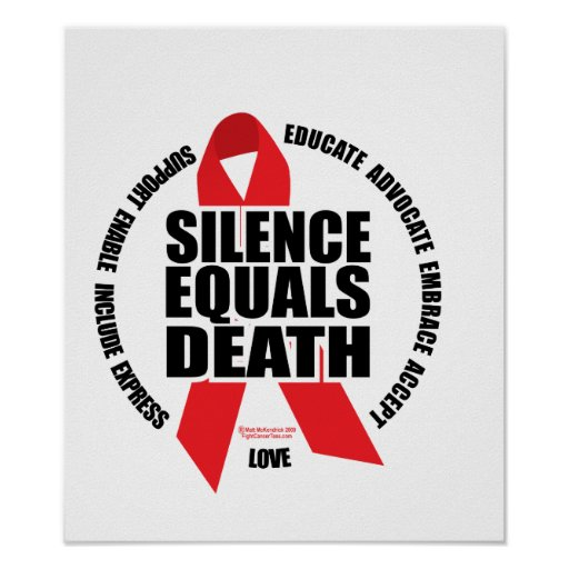 HIV/AIDS: Silence Equals Death Poster