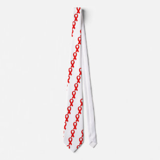 HIV and AIDS Red Awareness Ribbon Tie