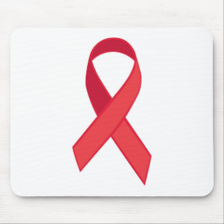 HIV Awareness - Red Ribbon Mouse Pad