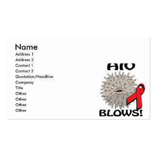 HIV Blows Awareness Design Pack Of Standard Business Cards