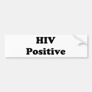 HIV Positive Bumper Sticker
