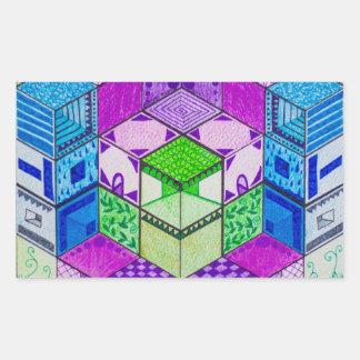 Hive by Chroma sappHo Rectangular Sticker