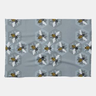 Hive Mind Silver Tea Towel