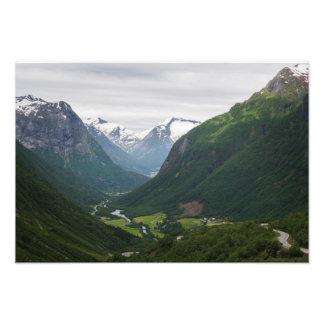 Hjelle valley in Norway photo print