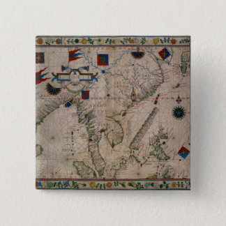 HM 41  The Far East, from a portolan atlas 15 Cm Square Badge