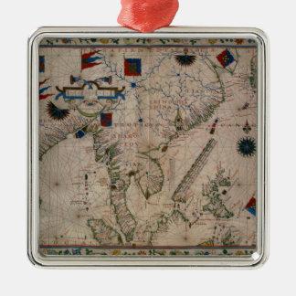 HM 41  The Far East, from a portolan atlas Christmas Ornament
