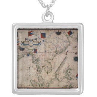 HM 41  The Far East, from a portolan atlas Silver Plated Necklace