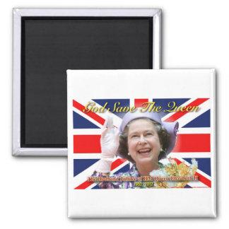 HM Queen Elizabeth II Diamond Jubilee Square Magnet