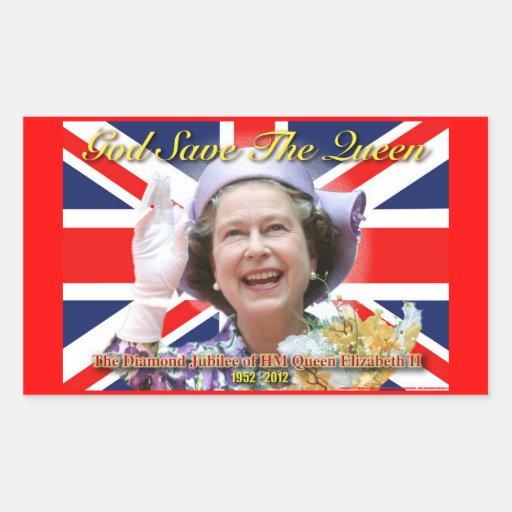 HM Queen Elizabeth II Diamond Jubilee Sticker