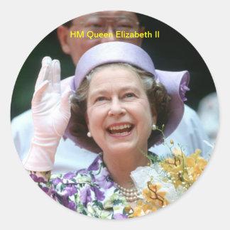 HM Queen Elizabeth II-Hong Kong-1987 Round Sticker