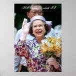 HM Queen Elizabeth II Hong Kong 1989 Poster