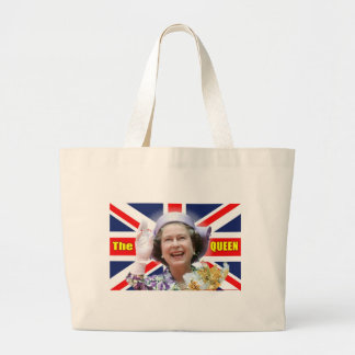 HM Queen Elizabeth II Large Tote Bag