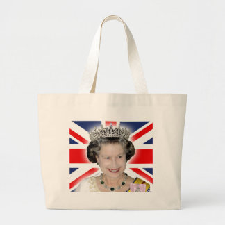HM Queen Elizabeth II - Majestic! Large Tote Bag