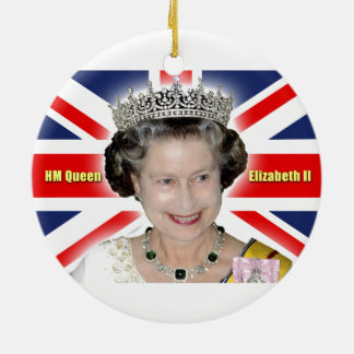 HM Queen Elizabeth II - Majestic! Round Ceramic Decoration