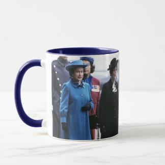 HM Queen Elizabeth II-Margaret Thatcher Mug
