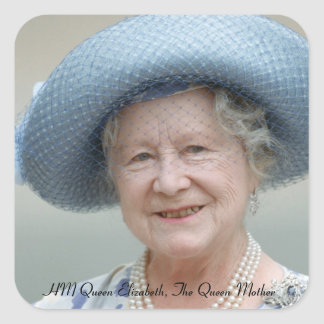 HM Queen Elizabeth, The Queen Mother 1988 Square Sticker