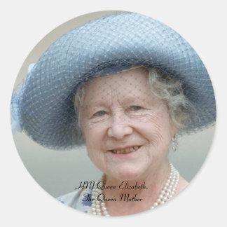 HM Queen Elizabeth, The Queen Mother 1988 Round Sticker