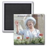 HM Queen Elizabeth, the Queen Mother 1990 Square Magnet
