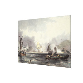 HM Ships Imogene and Andromache passing the Batter Canvas Print