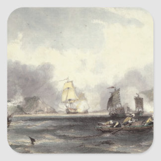 HM Ships Imogene and Andromache passing the Batter Square Stickers