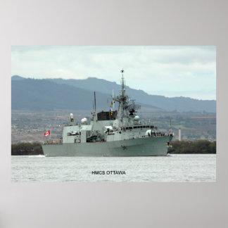 HMCS Ottawa (FF 341) Print