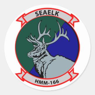 HMM-166 insignia Round Sticker