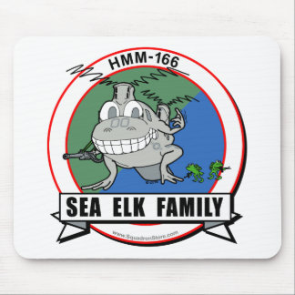HMM-166  'Sea Elk Family' Mouse Pad