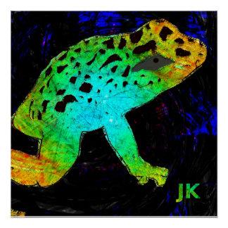 Hmm Frog Poster