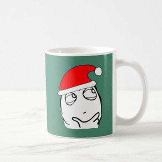 hmm xmas meme basic white mug