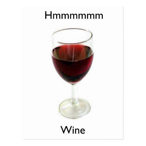 Hmmmmm Wine Post Cards