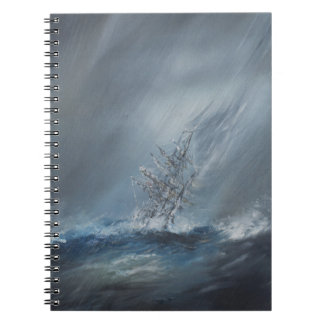 HMS Beagle in Storm off Cape Horn 24th December Notebooks