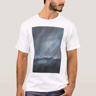 HMS Beagle in Storm off Cape Horn 24th December T-Shirt