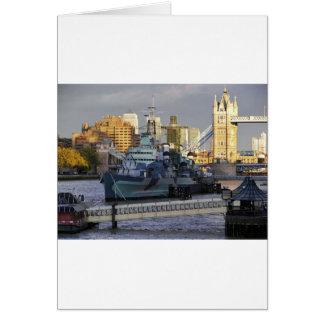 HMS Belfast. Card