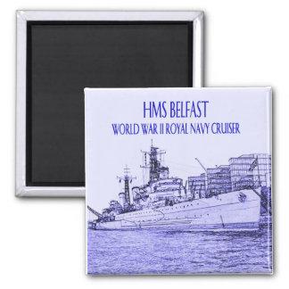 HMS Belfast Sketch Magnet
