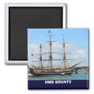 HMS BOUNTY SQUARE MAGNET