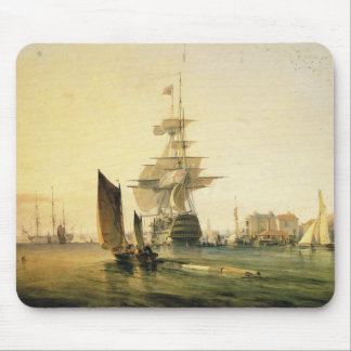 HMS Britannia entering Portsmouth, 1835 Mouse Mat