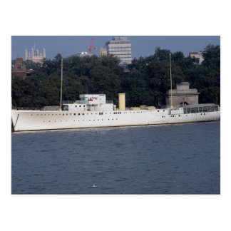 "HMS Discovery"", Thames River, London, England Postcard"