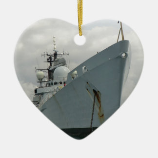 HMS Edinburgh Ceramic Heart Decoration